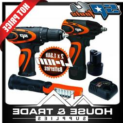 SP Tools Cordless Combo Kit  12v Impact Wrench + Drill + Tor
