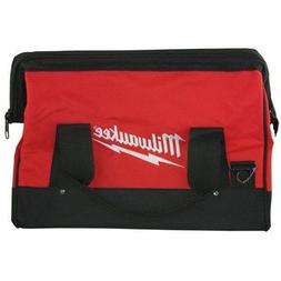 Milwaukee 17 Inch Heavy Duty Canvas Tool Bag with 6 Interior