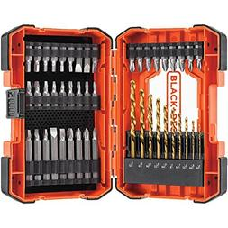 BLACK+DECKER BDA46SDDD 46-Piece Screwdriver & Drill Bits Set