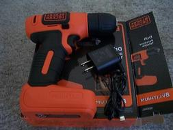 black and decker 8v max lithium drill