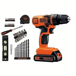BLACK+DECKER 20-Volt MAX* Lithium-Ion Cordless Drill With 44