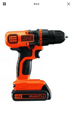 BLACK+DECKER 20-Volt MAX Lithium Ion Cordless Drill with 44-