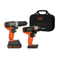 BLACK+DECKER 20V MAX* 2 Tool Cordless Drill and Impact Drive