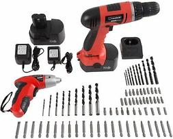 Stalwart Combo Cordless 74-Pc Drill Driver Screwdriver 2 Bat