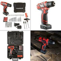 Stalwart 20V 62 Pc Cordless Drill 2 Speed Accessory Kit