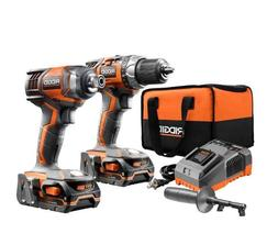 Cordless Drill and Impact Driver Power Tool Combo Kit Set 18
