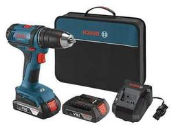 """Cordless Drill/Driver,18V,1/2"""",Battery Included BOSCH DDB181"""