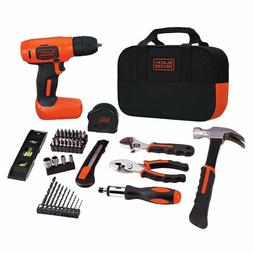 Black and Decker Cordless Drill Driver Power Hand Tools Kit