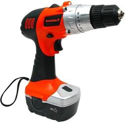 cordless drill w rechargeable 18v battery led
