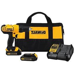 Cordless Drill with 2 Battery and Charger Compact Electric P