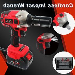 Cordless Impact Wrench Drill kit Li-ion battery tool 20v 1/2