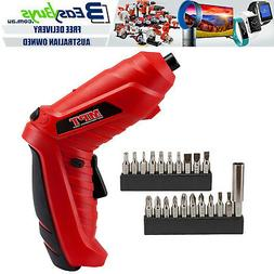 """MPT Cordless Power Drill Driver Screwdriver 1/4"""" Hex LED wit"""