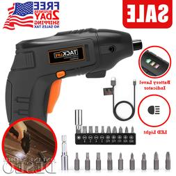 Cordless Rechargeable Electric Screwdriver Set Lithium Ion P