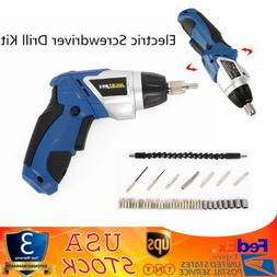 Cordless Screwdriver Drill Electric Power Tool Kit Set Mini