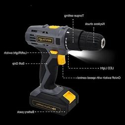 Toolman Cordless Screwdriver Rechargeable Precision Drill wi