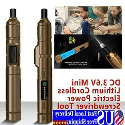 DC 3.6V Electric Lithium Rechargeable Cordless Screwdriver D