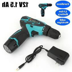 "DEKO 3/8"" 12V Lithium-Ion Battery  2-Speed Cordless Electric"