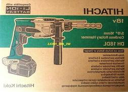 New Hitachi DH18DL 18V Rotary Hammer Drill