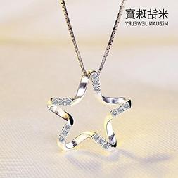Generic Drill_ 925 _meters_ silver chain necklace pendant wo