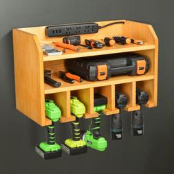 Drill Charging Station Craft Organizer Storage Wall Mounted