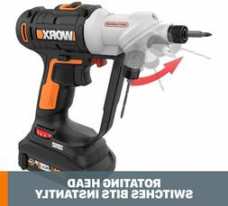 Worx Drill Driver 1/4 in. 20-Volt Lithium-Ion Cordless 67-Pi