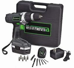 Drill Driver Kit 18V Cordless Electric Rechargeable Set Port