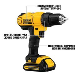 DEWALT Drill/Driver Kit with  20-Volt Batteries and Tool Bag