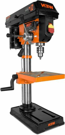 drill press with laser cast iron guide base bench power chuc