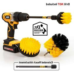 Drill Scrub Brushes Cleaning Extended Long Attachment Set 4