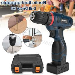 Dual Speed Electric Screwdriver Waterproof Cordless Drill Dr