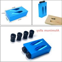 Easy to Install Pocket Hole Drilling Kit Woodworking Oblique