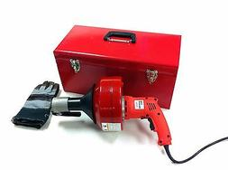 ELECTRIC DRILL STYLE AUGER SNAKE PIPE DRAIN CLEARING PLUMING