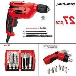 """Electric Power Drill Driver 3/8"""" W/ Screwdriver 27 pcs for D"""