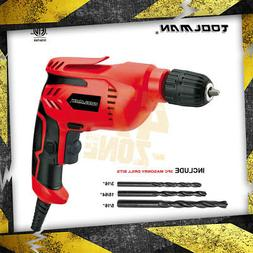 "Toolman Electric Power Drill Driver 3/8"" Variable Speed For"