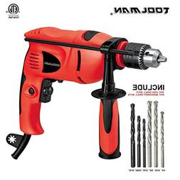 "Toolman Electric Power Drill Driver Variable Speed 1/2"" For"