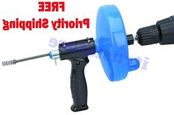 Extra Long CABLE Snake DRAIN CLEANER AUGER with Power Drill