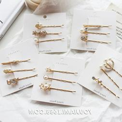 Fashion Temperament Luxury 3pcs/set Chic Rhinestone Hairclip