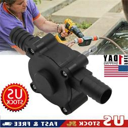 Hand Electric Drill Drive Self Priming Pump Home Oil Fluid W