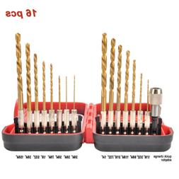 HSS Twist Drill Set Pilot point 16 pcs for DeWalt Makita & R