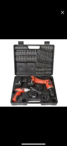 12 volt cordless drill and 3 6