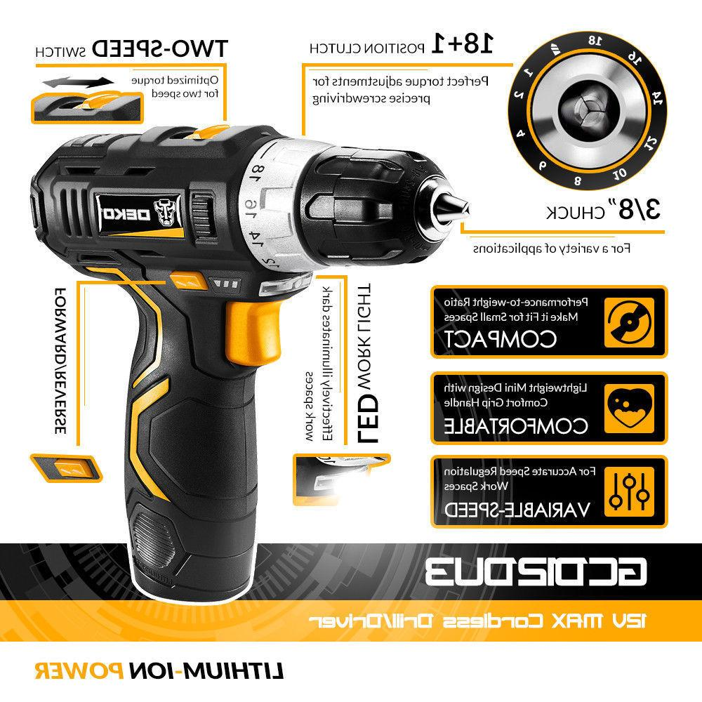 12V Battery 2-Speed Electric Cordless Mini Drill