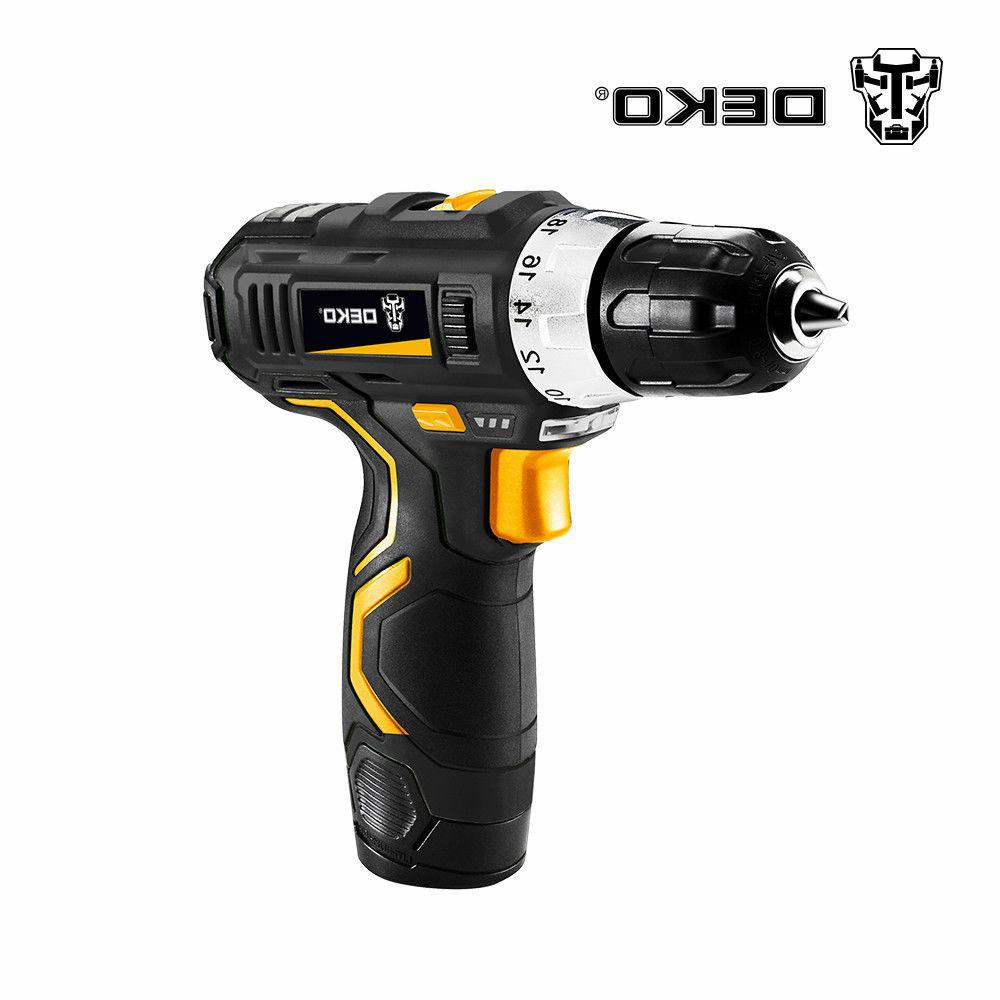 12V Lithium-Ion Battery 2-Speed Drill Mini Drill