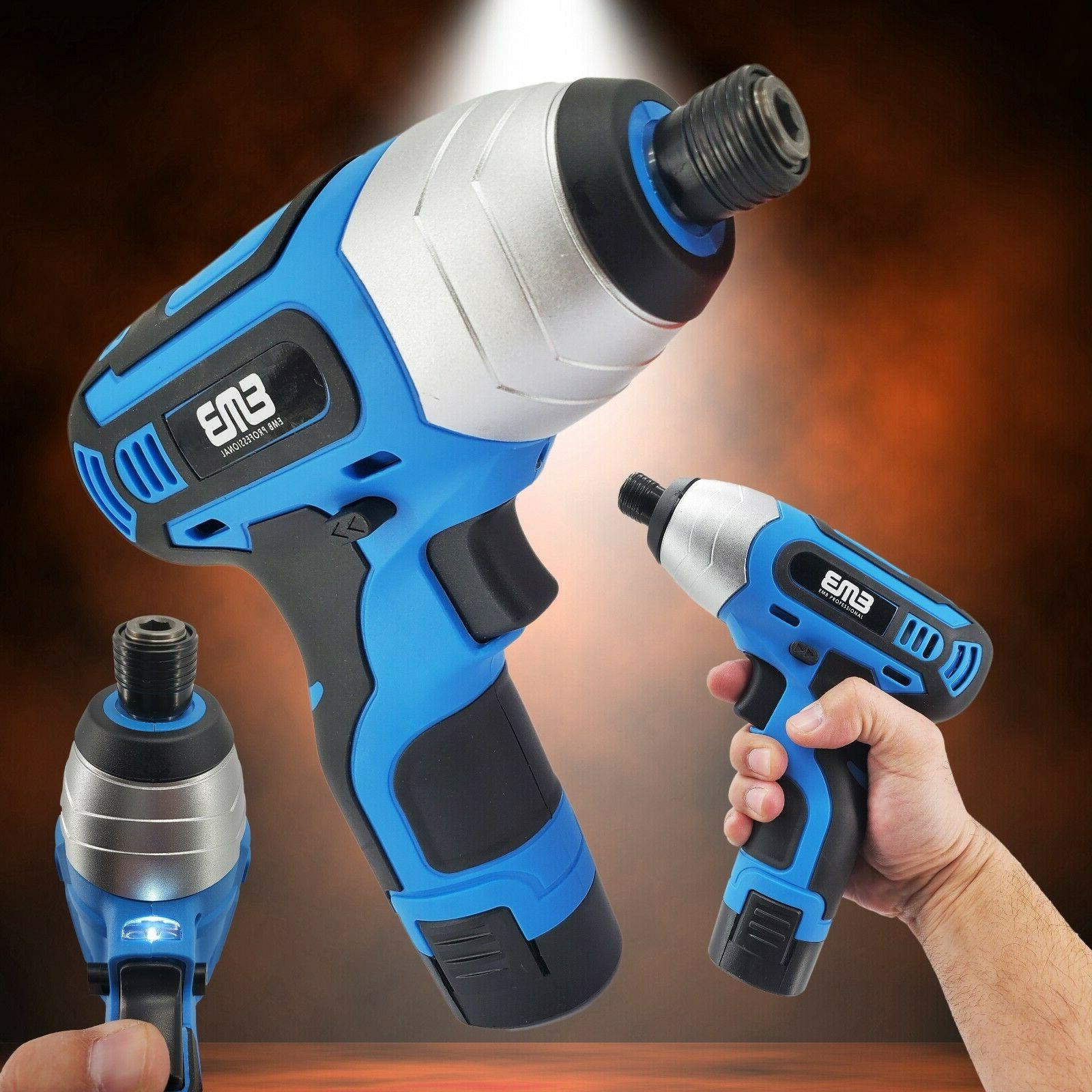 12v max brushed powerful cordless impact screwdriver