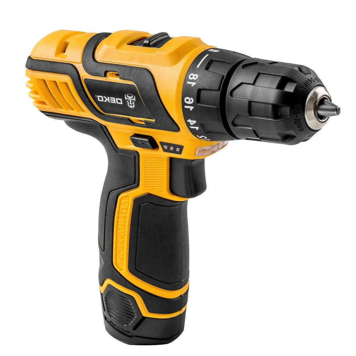 18+1 Lithium-Ion Electric Cordless 2-Speed Drill