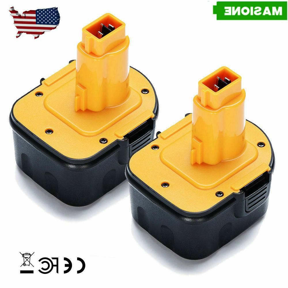 2 Pack 12V Battery For Dewalt DC9071 DW9071 DW9072 DE9072 12