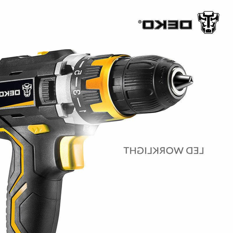 DEKO 20V DC Li-ion 2-Speed Electric Cordless