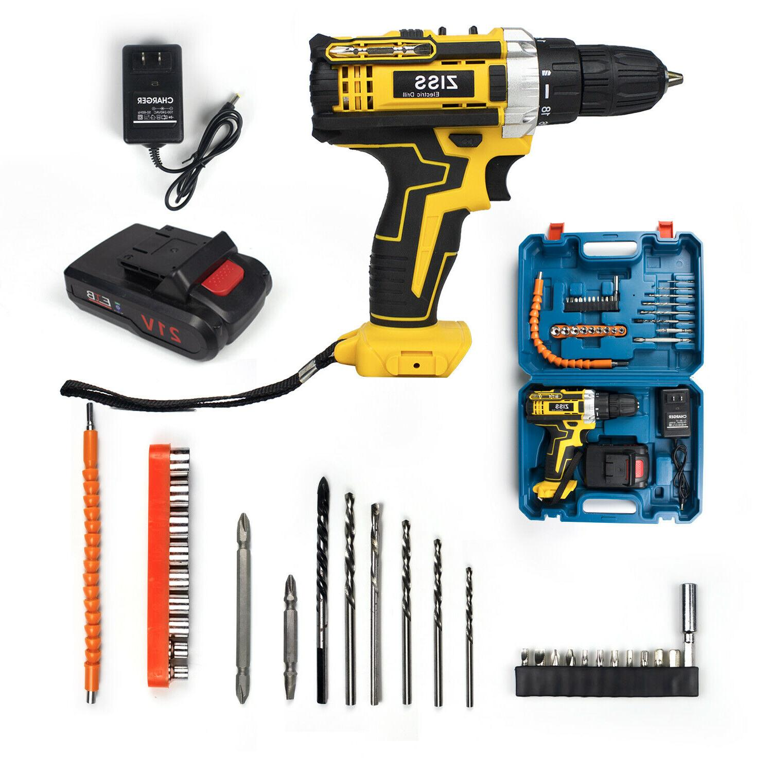 21-Volt Electric Cordless / Driver Set & Battery