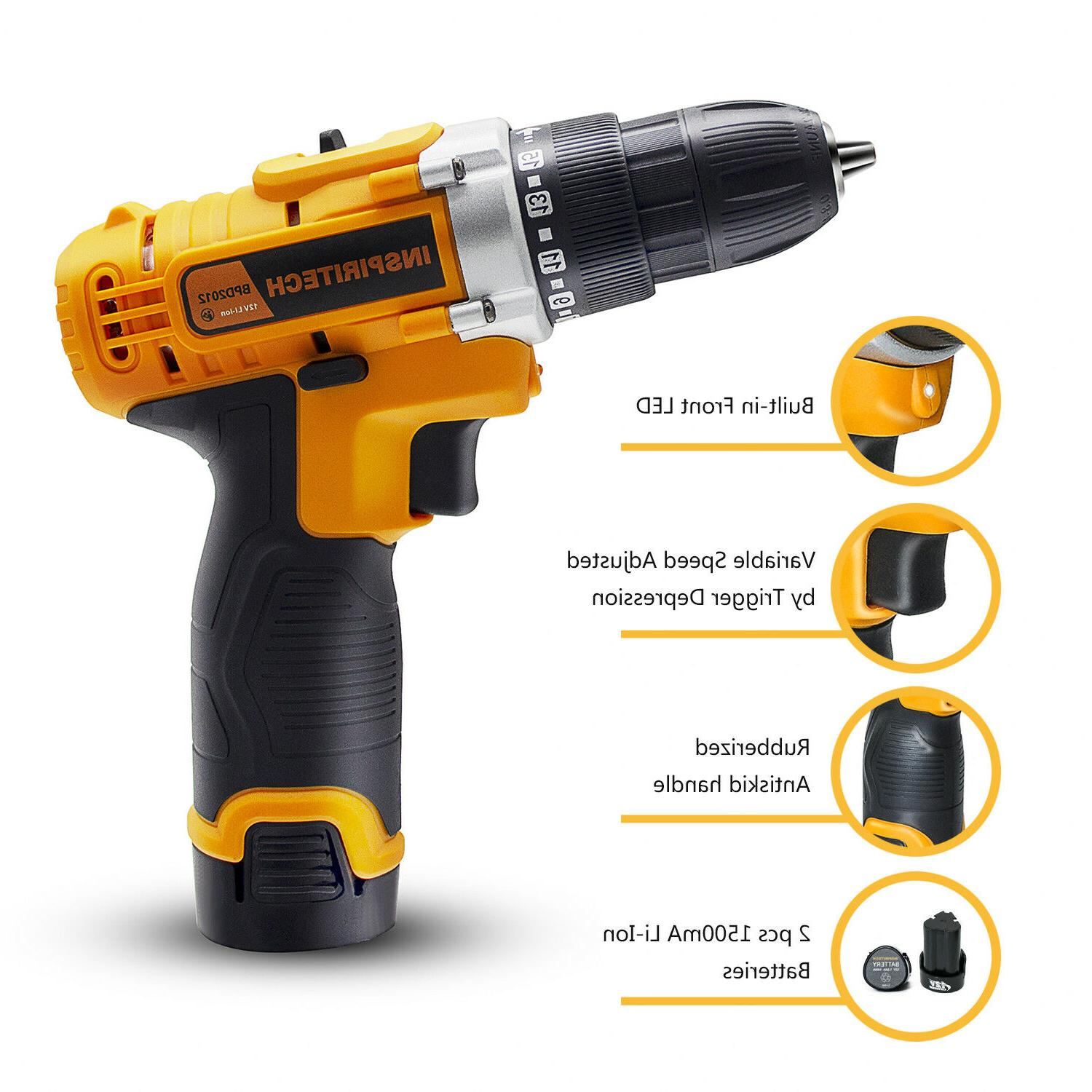Electric Cordless Bits & 2 Batteries