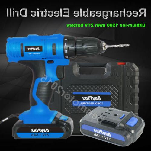 21-Volt drill Speed Electric Driver & Battery