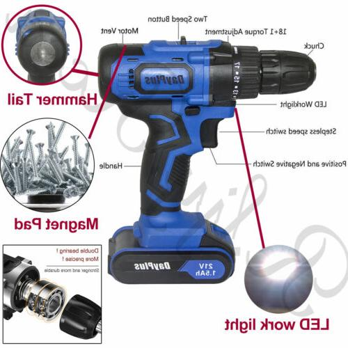 NEW Power Drill Electric With 2x